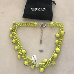 Baublebar Electric Yellow Chain Necklace-NWT
